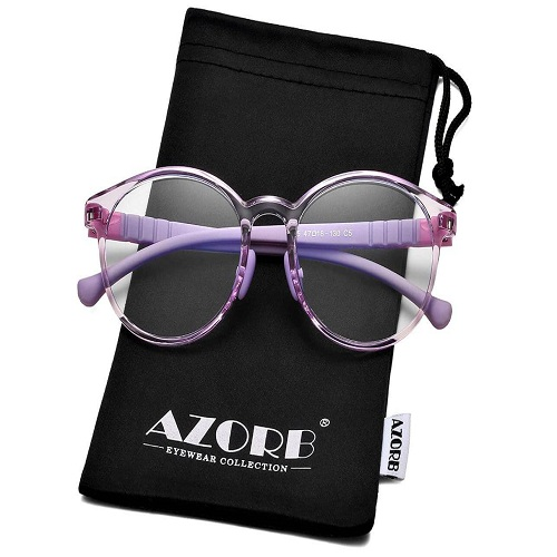 1) AZorb Kids Blue Light Blocking Glasses