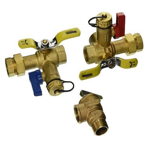 3) NIBCO Brass Ball Valves kit