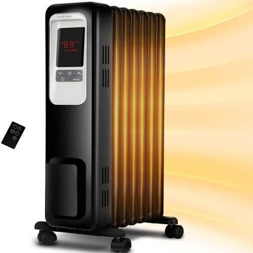 5) Aireplus Electric Oil Filled Space Heater