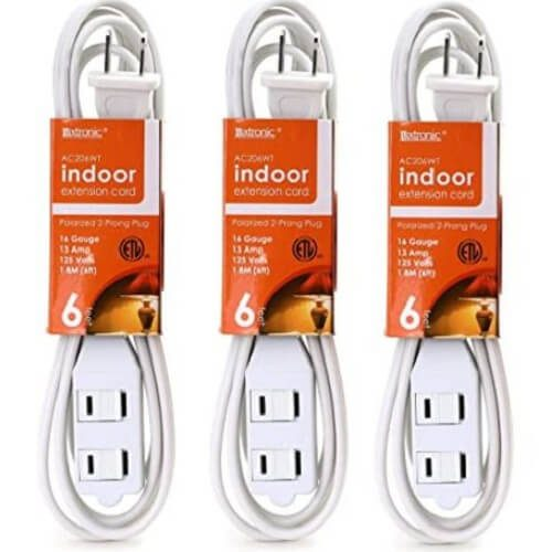 9) 3-Pack Luxtronic Extension Cord